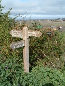 South West Coast Path Sign Letg Go walking