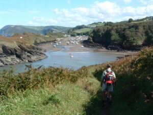 Walking with Lets Go walking at Watermouth