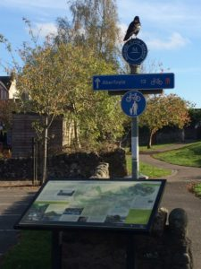 Rob Roy way sign Callander Letsgowalking Scotland