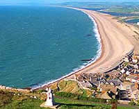 chesil beach Weymouth with Letsgowalking