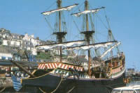 goldenhind brixham South West Coast Path