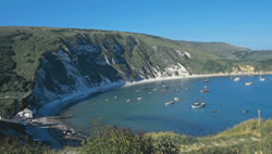 Lulworth cove walking holidays with letsgowalking