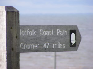 Norfolk Coast Path sign letsgowalking hiking holidays