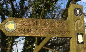 Cleveland Way Sign letsgowalking walking holidays