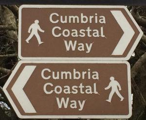 cumbria coastal way sign letsgowalking walking holidays
