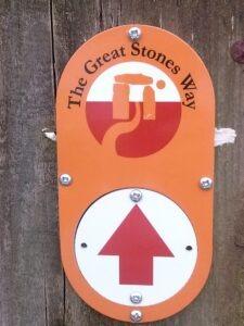 Great Stones Way Marker Post letsgowalking.co.uk walking holidays