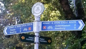 Kennet and avon sign post