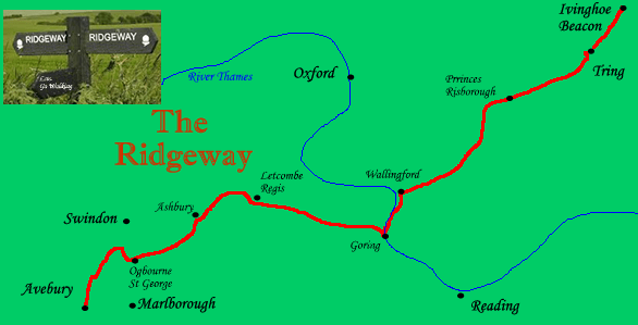 Ridgeway map walking holidays with letsgowalking