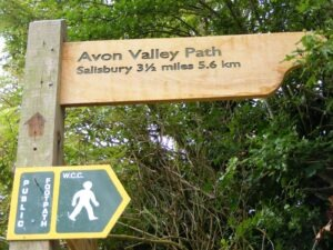 avon valley path sign walking holidays with letsgowalking
