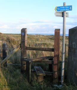 sign lecale way irish walking holidays letsgowalking.co.uk